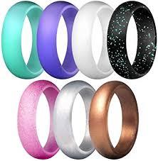 Acamifashion 7Pcs/Set Multi Color <b>Fashion Silicone</b> Finger <b>Ring</b> ...