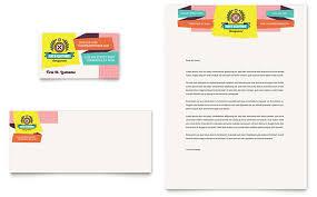 Kids Consignment Shop Business Card Letterhead Template Word