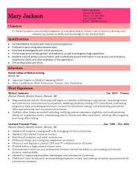 Medical Assistant Resume Templates Free Extraordinary Medical Assistant Resume Example Correiodigital
