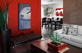 Red Accent Decor  Creative Ideas Of Dining Room Wall Decor And - Dining room red paint ideas