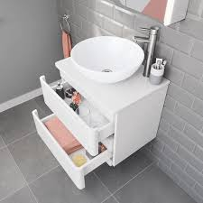 wall mounted vanity unit counter top basin