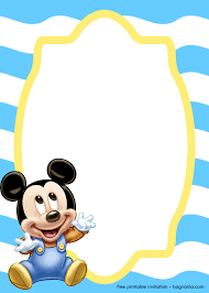 Free Mickey Mouse Baby Invitation Template Free Printable Birthday