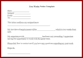 Letter Of Intent To Return To Work After Resignation Work Notice Template Wsopfreechips Co