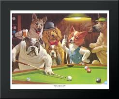 dogs playing pool image is loading the dogs playing pool framed art dogs playing pool