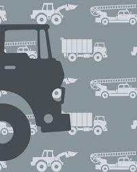 Behang Autos Met Vrachtwagen Grijs Tinklecherry