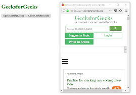 Javascript Window Open Window Close Method Geeksforgeeks
