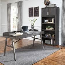 large home office desk. Raventown Grayish Brown Home Office Desk \u0026 Large Bookcase F