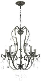hampton bay 5 light chandelier with tea stained glass shade incandescent aged bronze installation