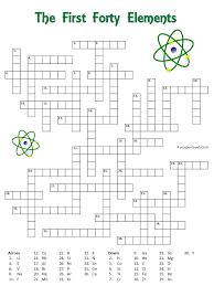 Free Printable Elements Crossword Teaching Chemistry