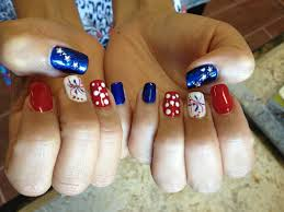 4th of July nails - Natural Nails - Gelish Polish (red, white ...