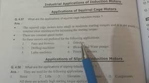 applications of squirrel cage and slipring induction motor