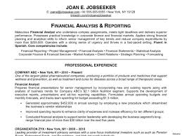 Resume For Financial Analyst Finance Resume Template Elegant