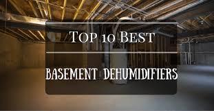 top 10 best dehumidifier for basement