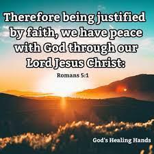 Romans 5:1 KJV - God's Healing Hands | Facebook