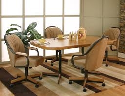 fantastic swivel dining chairs with casters 6 dining room
