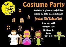 Halloween Costume Party Birthday Party Invitation Adult Kids Boy Girl