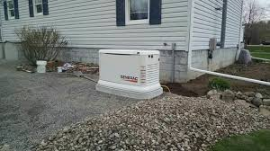generac generator installation. Here You\u0027ll See A New Generac Generator On Custom Pad Ready For Operation Installation