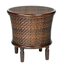outdoor storage end table round coffee with box outdo