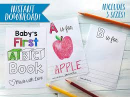 Small Picture ABC Book Template DIY Alphabet Color Baby Shower Activity