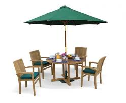 canfield round 1 2m table 4 bali stacking chairs teak patio set