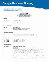 Rn Resume Template Of Nursing School Resume Template Free Samples