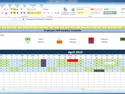 Work Shift Schedule Template Monthly Staff Roster Template Free Employee And Shift Schedule
