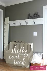 Diy Wall Mounted Coat Rack Furniture Clothes Rack With Shelves Mirror With Coat Hooks Wall 88