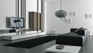Modern Living Room Tv Wall Units  In Black And White Colors - Tv cabinet for living room