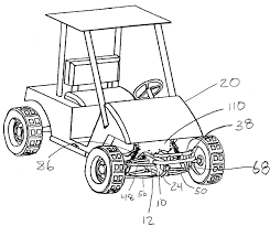 Rear car suspension diagram just what every golf cart needs a lift kit golf patents of