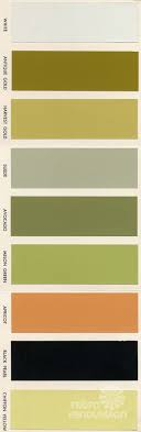 st charles kitchen cabinets: i show a brochure from the that shows  paint colors for vintage st charles kitchen cabinets including avocado and harvest gold of course