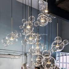 pendant lights glass minimalist molecular nordic chandelier italian designer creative bubble glass restaurant restaurant hanging lamps ceiling lights