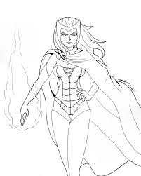 Small Picture witches colouring pages scarlet witch colouring pages witches