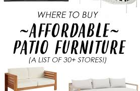where to patio furniture