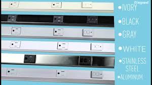 Under Cabinet Plug Mold Wiremold Gfci Plugmoldr Multioutlet System Youtube