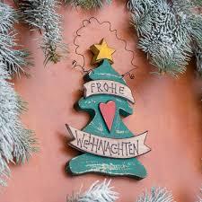 Hübsche Türdekoration Tannenbaum Als Weihnachtsdeko