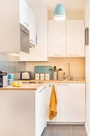 modern scandinavian design works well in super small kitchens