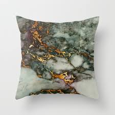 green and gray pillows. Plain And Gray Green Marble Glitter Gold Metallic Foil Style Throw Pillow With And Pillows