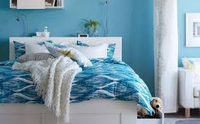 Painting My Bedroom Ideas With Cool Soft Blue Wall Painting And White Bed  Design For Bedroom Painting Ideas Pictures