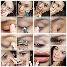 2 natural makeup look step by step