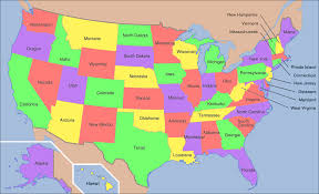 map of usa with full state names at maps filemap usa showing