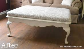 we inform we provide image for diy upholstered coffee table with Have Been  Wanting To Make An Upholstered Ottoman From A Coffee Table ...