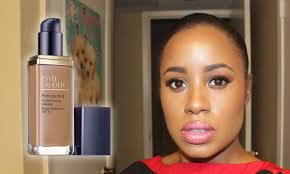 estee lauder perfectionist youth infusing foundation review demo swatch wear test