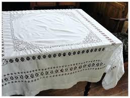 pretty white cotton drawn work tablecloth red tag item tesco white cotton tablecloth
