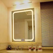 Wall mounted bathroom mirror Jerdon Vertical Warm Light Led Backlit Bathroom Mirror Square Wall Mount Bathroom Finger Touch Light Mirror Bath Mirrors Imall Vertical Warm Light Led Backlit Bathroom Mirror Square Wall Mount