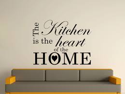 kitchen wall art stickersthe kitchen is the heart of the home wall art sticker text 3