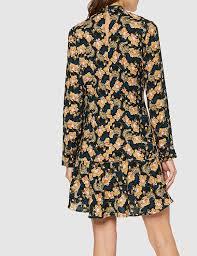 À porter avec des bottes à talons en journée comme en soirée. Marque Find Mini Robe Patineuse A Fleurs Femme Casual