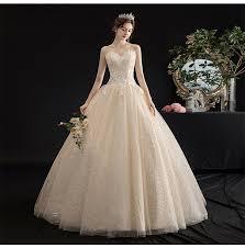 summer light <b>champagne</b> tube top lace <b>princess wedding</b> dress