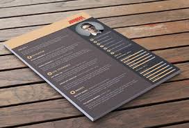 free creative resume template psd creative resume templates download free