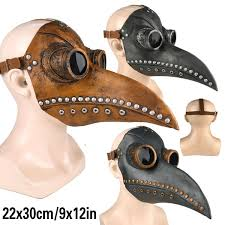 <b>Funny Medieval</b> Steampunk Plague Doctor Bird <b>Mask</b> Latex Punk ...