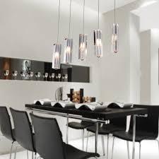linear dining room lighting. LightInTheBox Stainless Steel 5-Light Mini Bar Pendant Light With K9 Crystal Drop, Island Lights Ceiling Fixture For Dining Room - Linear Lighting